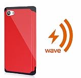 Dafoni Sony Xperia Z5 Compact Wave Slim Power Kablosuz Sarj Eden Kırmızı Kılıf