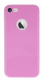 Dafoni Thin Air iPhone 7 Kamera Korumal� Pembe Rubber K�l�f