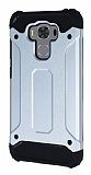 Tough Power Asus ZenFone 3 Max ZC553KL Ultra Koruma Silver Kılıf