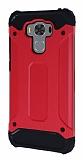 Dafoni Tough Power Asus ZenFone 3 Max ZC553KL Ultra Koruma Kırmızı Kılıf