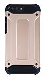 Dafoni Tough Power Asus ZenFone 4 ZE554KL Ultra Koruma Rose Gold Kılıf