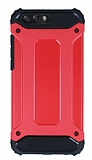 Dafoni Tough Power Asus ZenFone 4 ZE554KL Ultra Koruma Kırmızı Kılıf