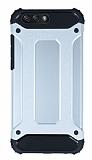Dafoni Tough Power Asus ZenFone 4 ZE554KL Ultra Koruma Silver Kılıf