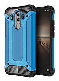 Dafoni Tough Power Huawei Mate 10 Pro Ultra Koruma Mavi Kılıf