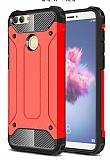 Tough Power Huawei P Smart Ultra Koruma Kırmızı Kılıf