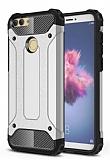 Tough Power Huawei P Smart Ultra Koruma Silver Kılıf