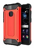 Dafoni Tough Power Huawei P10 Lite Ultra Koruma Kırmızı Kılıf