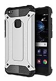Dafoni Tough Power Huawei P10 Lite Ultra Koruma Silver Kılıf