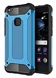 Dafoni Tough Power Huawei P10 Lite Ultra Koruma Mavi Kılıf