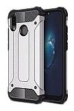 Dafoni Tough Power Huawei P20 Lite Ultra Koruma Silver Kılıf