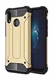Dafoni Tough Power Huawei P20 Lite Ultra Koruma Gold Kılıf