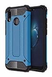 Dafoni Tough Power Huawei P20 Lite Ultra Koruma Mavi Kılıf
