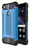 Dafoni Tough Power Huawei P9 Lite 2017 Ultra Koruma Mavi Kılıf