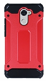 Dafoni Tough Power Huawei Y7 Prime Ultra Koruma Kırmızı Kılıf