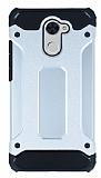 Dafoni Tough Power Huawei Y7 Prime Ultra Koruma Silver Kılıf