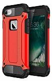 Dafoni Tough Power iPhone 7 Ultra Koruma Kırmızı Kılıf