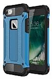 Dafoni Tough Power iPhone 7 Ultra Koruma Mavi Kılıf