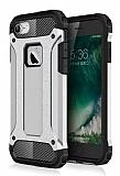 Dafoni Tough Power iPhone 7 Ultra Koruma Silver Kılıf
