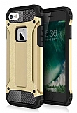 Dafoni Tough Power iPhone SE / 5 / 5S Ultra Koruma Gold Kılıf