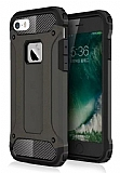 Dafoni Tough Power iPhone SE / 5 / 5S Ultra Koruma Gun Black Kılıf