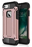 Dafoni Tough Power iPhone SE / 5 / 5S Ultra Koruma Rose Gold Kılıf