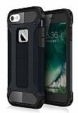 Dafoni Tough Power iPhone SE / 5 / 5S Ultra Koruma Siyah Kılıf