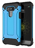 Dafoni Tough Power LG G5 Ultra Koruma Mavi Kılıf