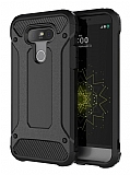 Dafoni Tough Power LG G5 Ultra Koruma Siyah Kılıf