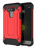 Dafoni Tough Power LG G5 Ultra Koruma Kırmızı Kılıf