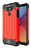 Dafoni Tough Power LG G6 Ultra Koruma Kırmızı Kılıf