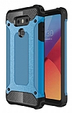 Dafoni Tough Power LG G6 Ultra Koruma Mavi Kılıf