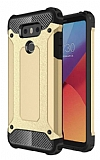 Dafoni Tough Power LG G6 Ultra Koruma Gold Kılıf