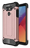 Dafoni Tough Power LG G6 Ultra Koruma Rose Gold Kılıf