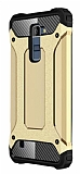 Dafoni Tough Power LG K10 Ultra Koruma Gold Kılıf