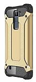 Dafoni Tough Power LG K8 Ultra Koruma Gold Kılıf