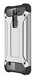 Dafoni Tough Power LG K8 Ultra Koruma Silver Kılıf