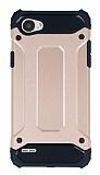 Dafoni Tough Power LG Q6 Ultra Koruma Rose Gold Kılıf