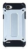Dafoni Tough Power LG Q6 Ultra Koruma Silver Kılıf