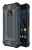 Dafoni Tough Power Motorola Moto E4 Ultra Koruma Lacivert Kılıf