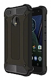 Dafoni Tough Power Motorola Moto E4 Ultra Koruma Siyah Kılıf