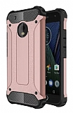 Tough Power Motorola Moto E4 Ultra Koruma Rose Gold Kılıf