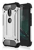 Tough Power Motorola Moto G4 / G4 Plus Ultra Koruma Silver Kılıf