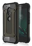 Dafoni Tough Power Motorola Moto G4 / G4 Plus Ultra Koruma Gun Black Kılıf
