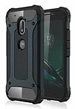 Dafoni Tough Power Motorola Moto G4 / G4 Plus Ultra Koruma Siyah Kılıf