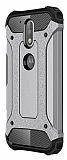 Tough Power Motorola Moto G4 Plus Ultra Koruma Silver Kılıf