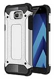 Tough Power Samsung Galaxy A7 2017 Ultra Koruma Silver Kılıf