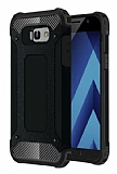 Dafoni Tough Power Samsung Galaxy A7 2017 Ultra Koruma Siyah Kılıf