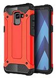 Dafoni Tough Power Samsung Galaxy A8 Plus 2018 Ultra Koruma Kırmızı Kılıf
