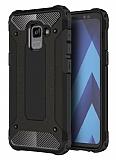 Dafoni Tough Power Samsung Galaxy A8 Plus 2018 Ultra Koruma Siyah Kılıf