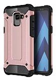 Dafoni Tough Power Samsung Galaxy A8 Plus 2018 Ultra Koruma Rose Gold Kılıf